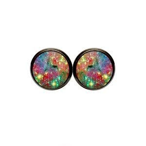 Rainbow Nebula Earrings